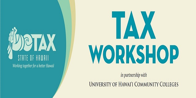 2019 Tax Workshop poster