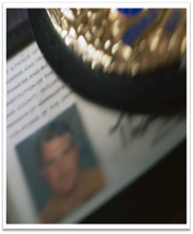 ID card and badge